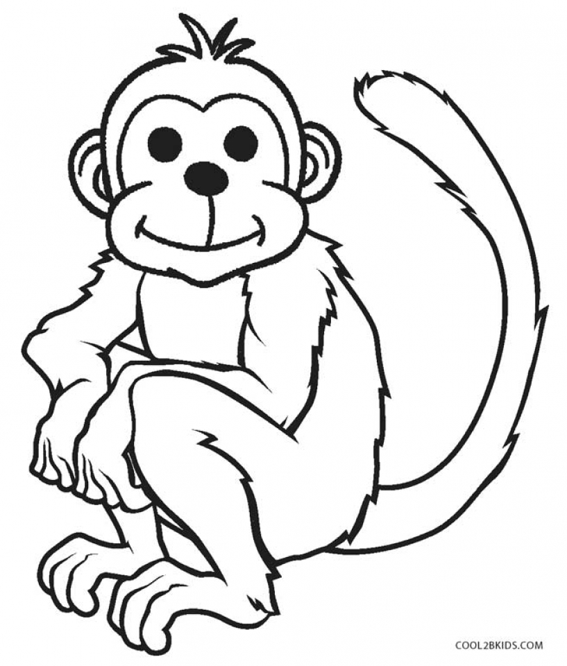 monkey coloring pictures coloring pages for kids coloring monkey pictures