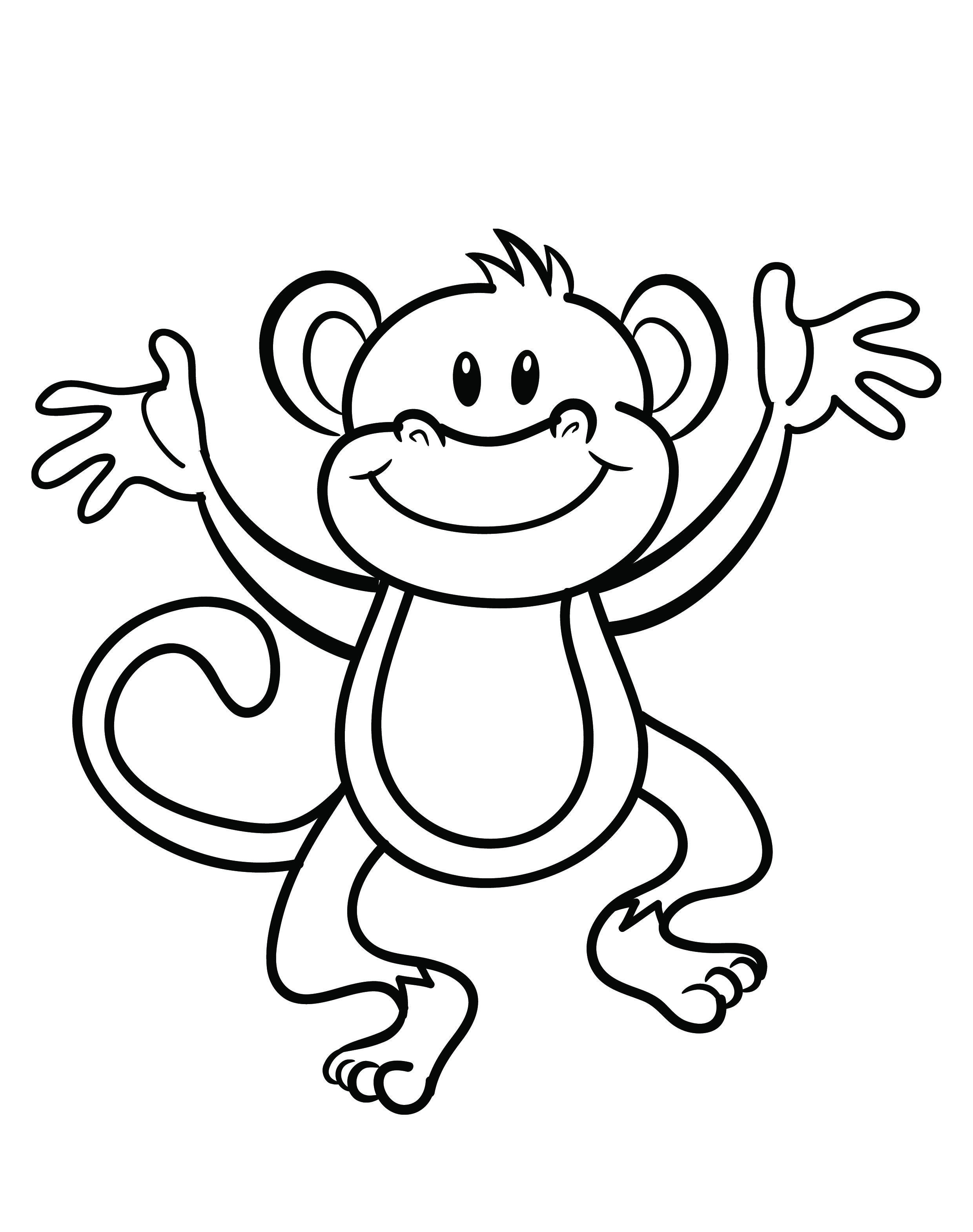 monkey coloring pictures get this cute monkey coloring pages for kids 60318 monkey pictures coloring