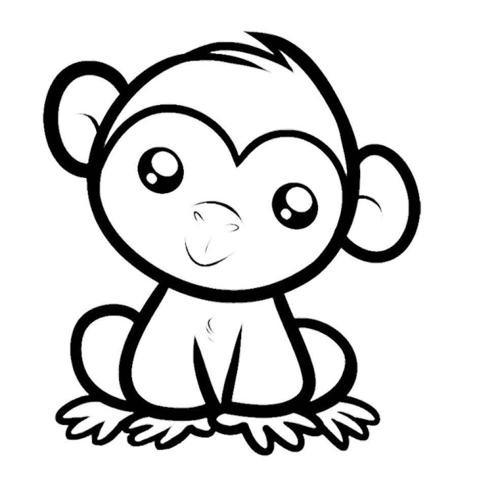monkey coloring pictures monkey coloring pages free download on clipartmag coloring pictures monkey