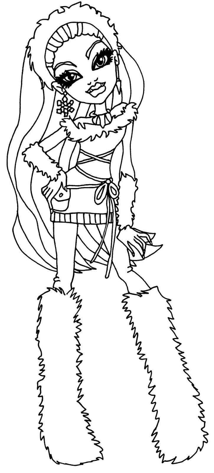 monster high abbey coloring pages abbey bominable from monster high coloring page color luna monster abbey high coloring pages