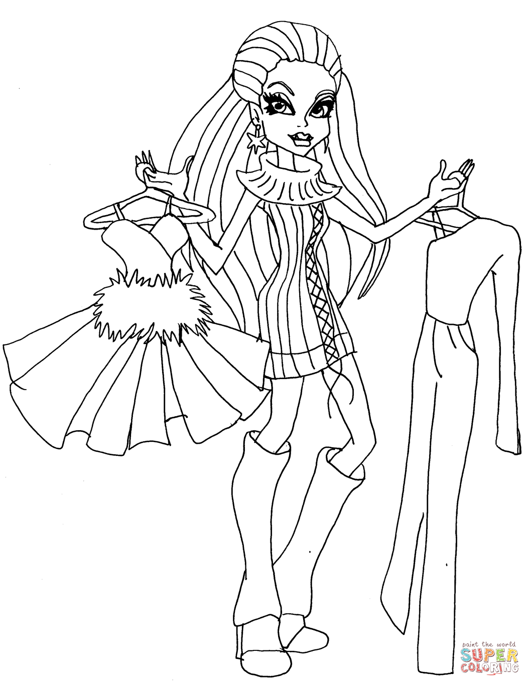 monster high abbey coloring pages abbey bominable vim coloring page free printable high monster abbey coloring pages