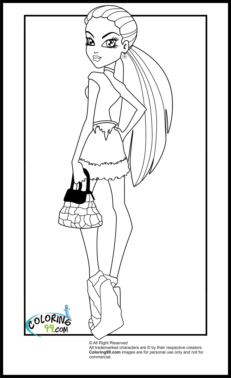 monster high abbey coloring pages abbey monster high coloring pages at getdrawings free pages abbey monster coloring high