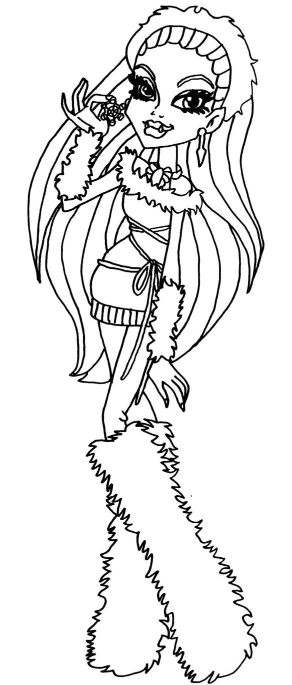 monster high abbey coloring pages monster high abbey bominable sitting sweet coloring pages pages abbey monster coloring high