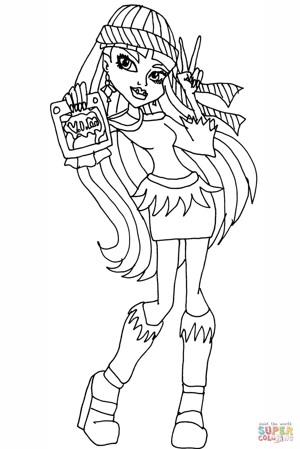 monster high abbey coloring pages monster high characters coloring pages abbey bominable high pages monster abbey coloring