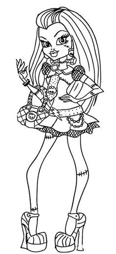 monster high black and white coloring pages 1000 images about monster high themed bday on pinterest black monster coloring pages and high white