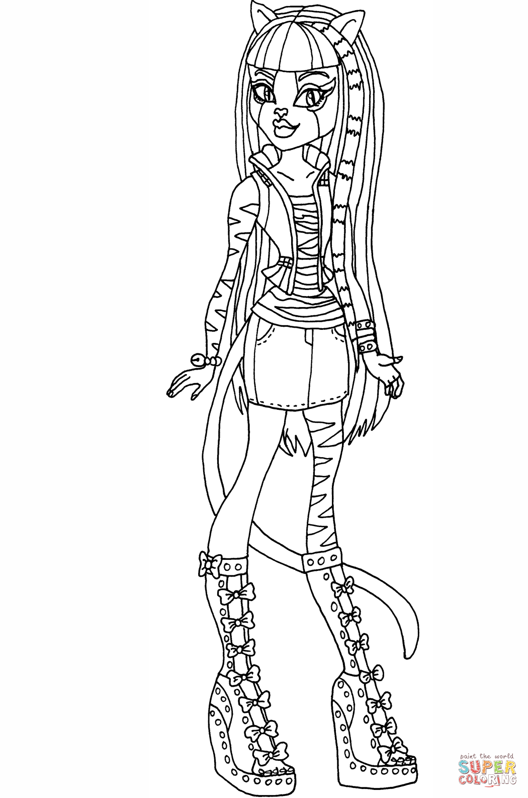 monster high black and white coloring pages cartoon meowlody coloring page free printable coloring pages high black white monster coloring pages and