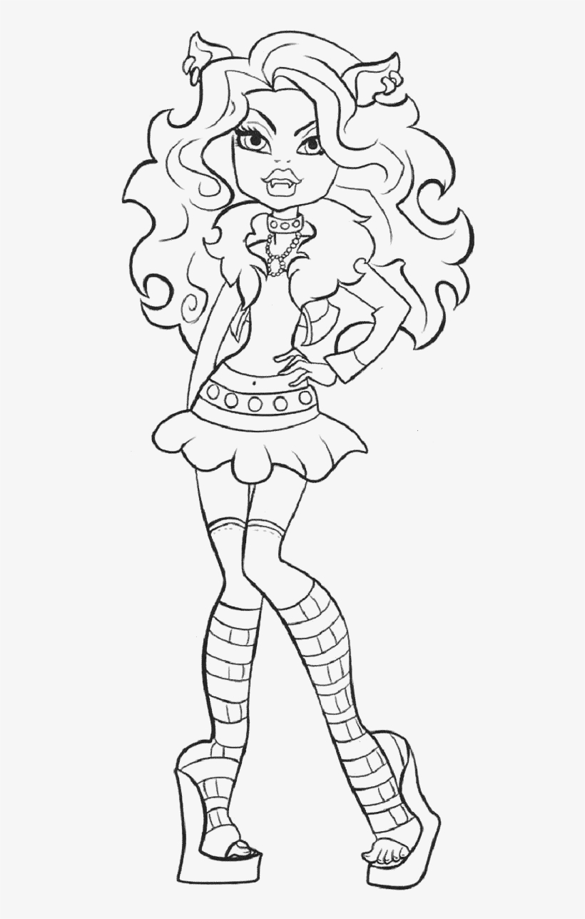 monster high black and white coloring pages clawdeen wolf is photo model coloring pages monster high pages coloring and black high monster white
