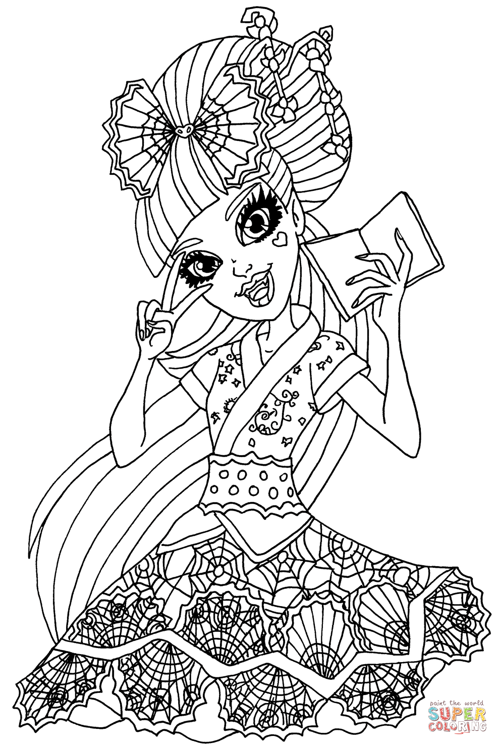 monster high black and white coloring pages draculaura exchange student coloring page free printable high coloring monster white pages black and