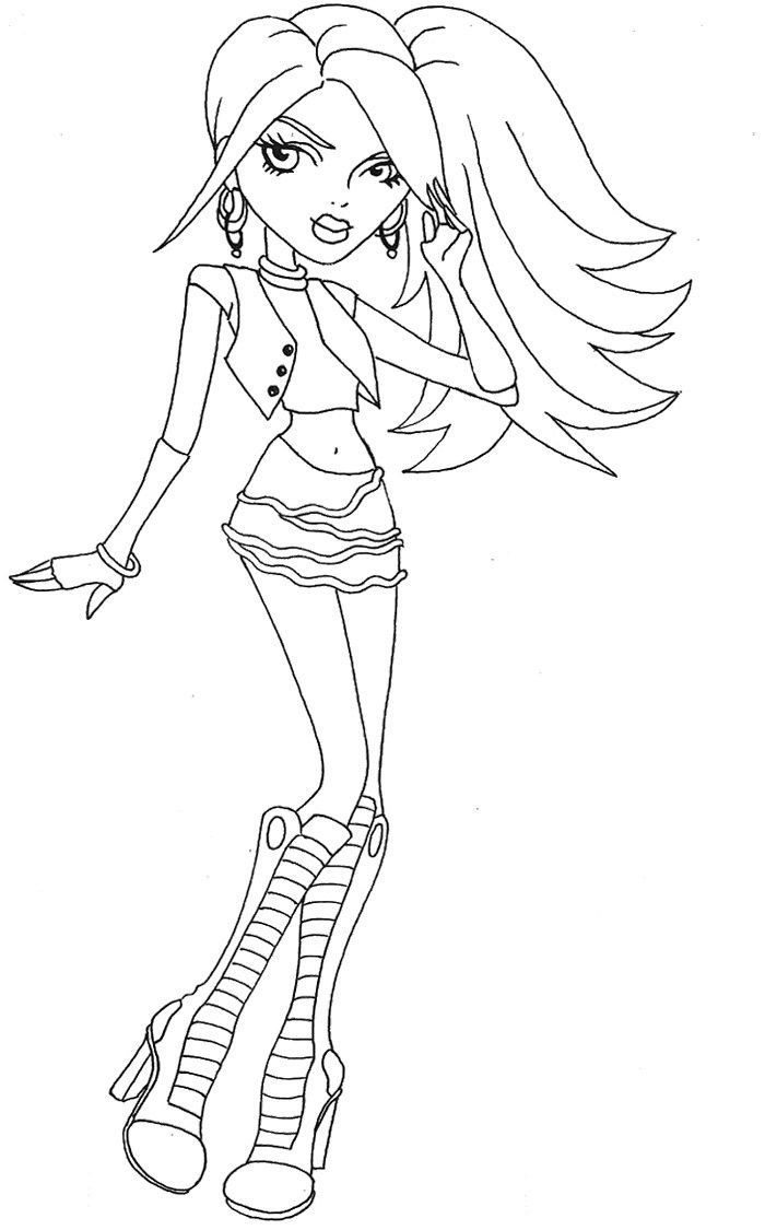 monster high black and white coloring pages hairs style spectra vondergeist coloring page cool high monster pages coloring black white and