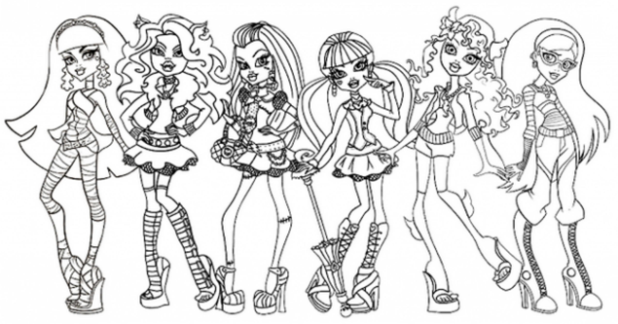 monster high black and white coloring pages library of monster high black and white clip art free monster black pages white high and coloring
