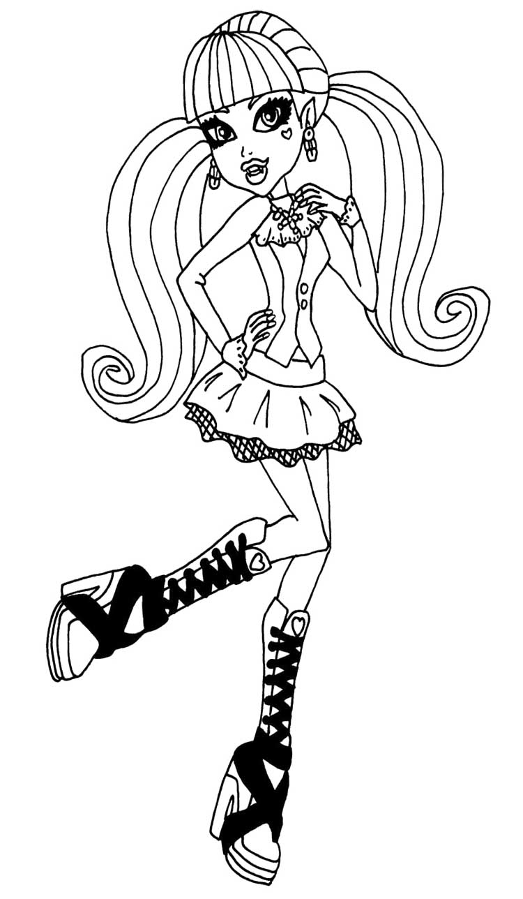 monster high black and white coloring pages maleficent silhouette at getdrawings free download pages high monster coloring white and black