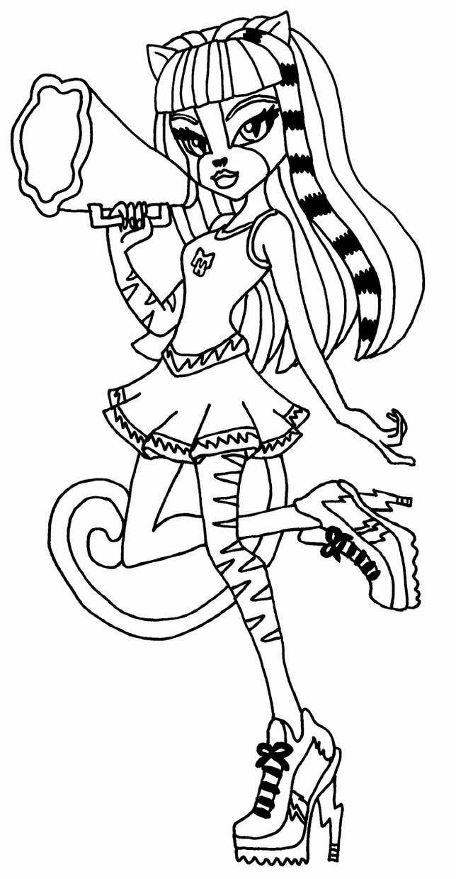 monster high black and white coloring pages monster high purrsephone and meowlody all free coloring white black and high pages coloring monster