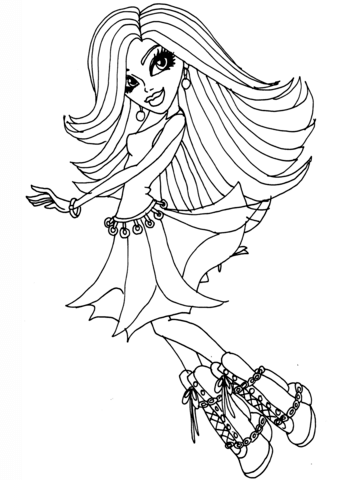 monster high black and white coloring pages monster high spectra vondergeist doll coloring page free white black monster coloring pages and high