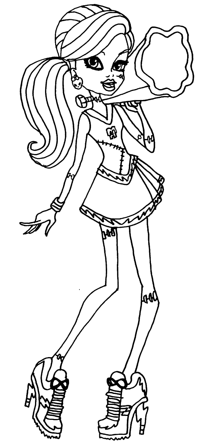 monster high black and white coloring pages monster high with images monster high art monster monster pages white high coloring black and