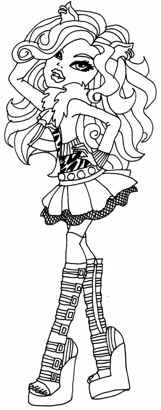 monster high clawdeen monster high clawdeen wolf drawing at paintingvalleycom monster high clawdeen