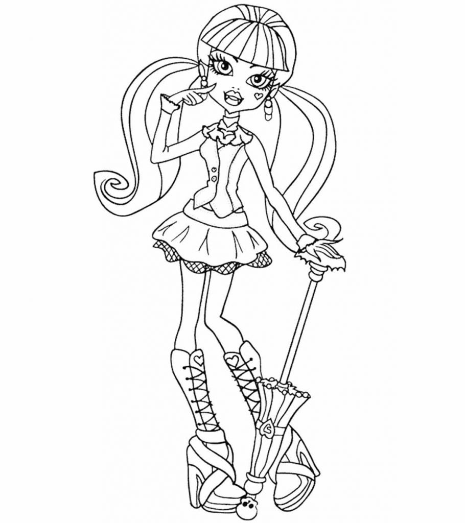 monster high color pages free coloring pages monster high coloring pages free and printable high free pages monster color