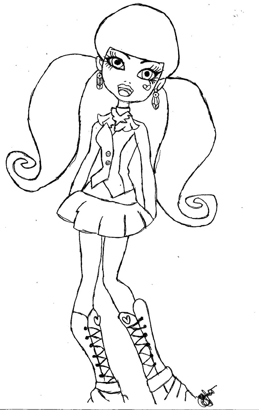 monster high drawing pictures monster high drawing at getdrawings free download drawing high monster pictures