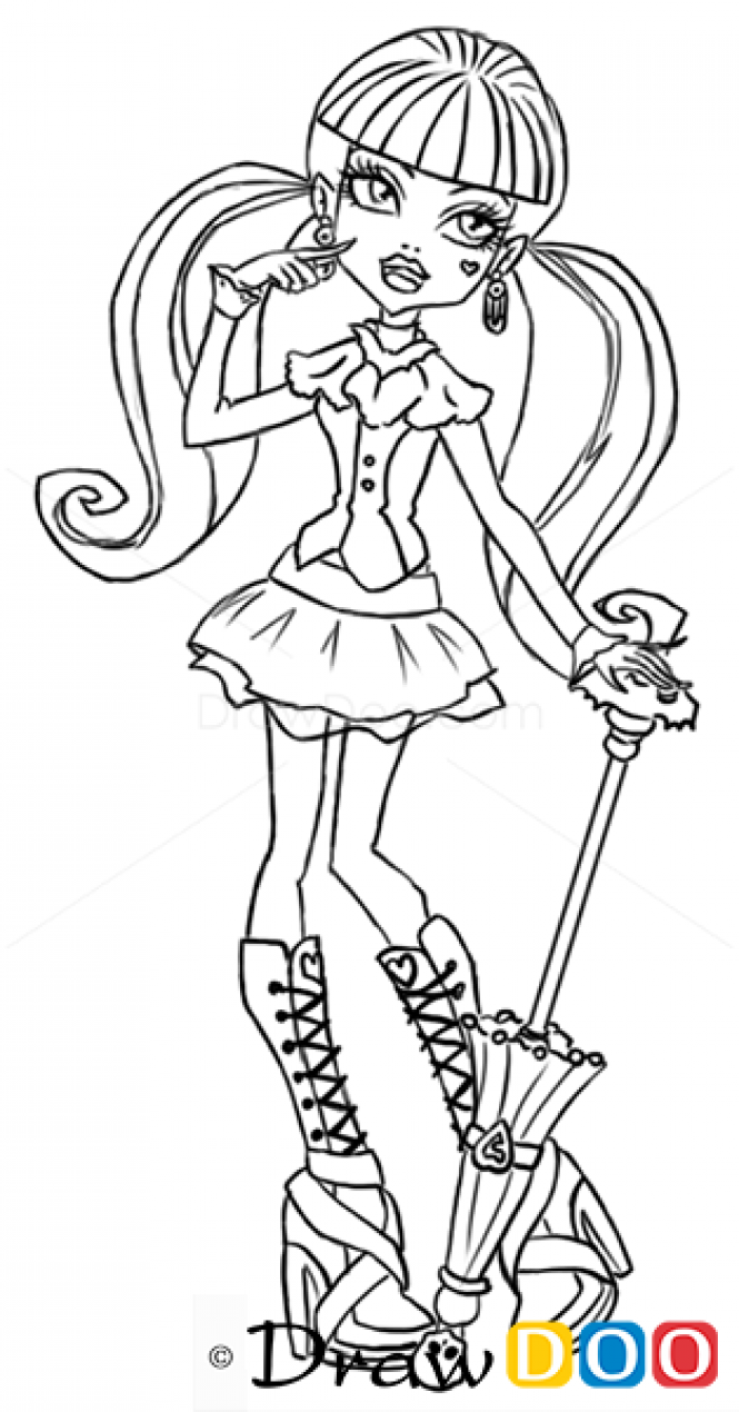monster high drawing pictures monster high sketch spectra vondergeist by carlotta high drawing monster pictures