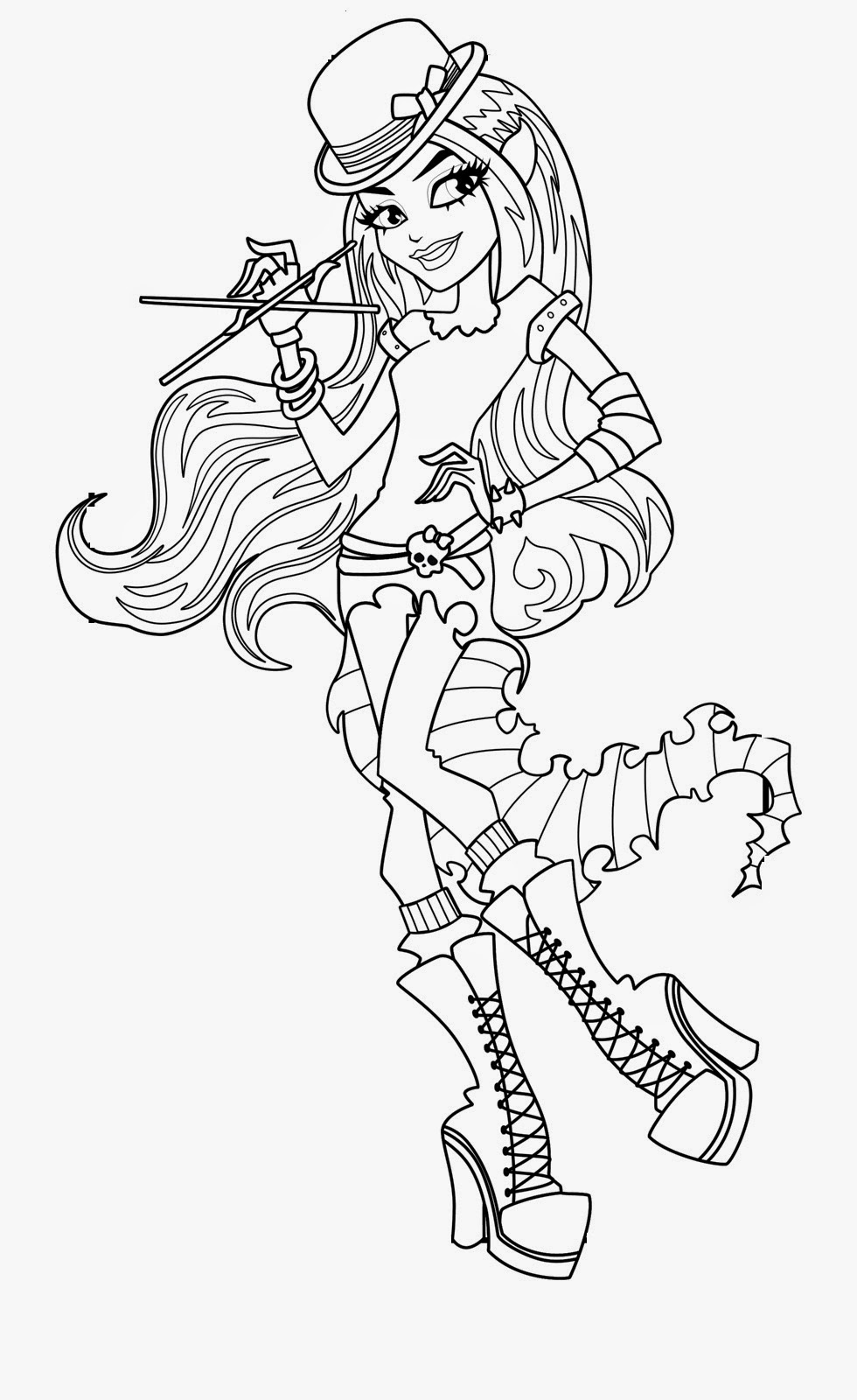 monster high free coloring pages to print coloring pages monster high coloring pages free and printable free print to pages coloring high monster