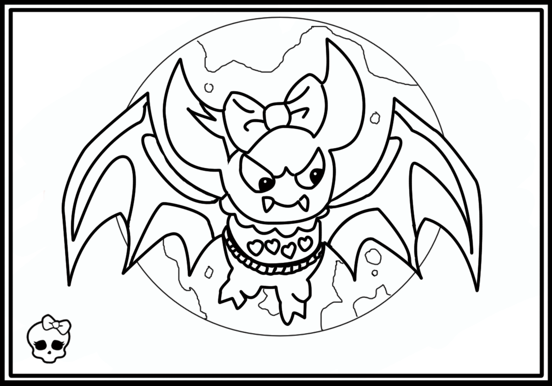 monster high pets monster high whatzit coloring page free printable pets high monster