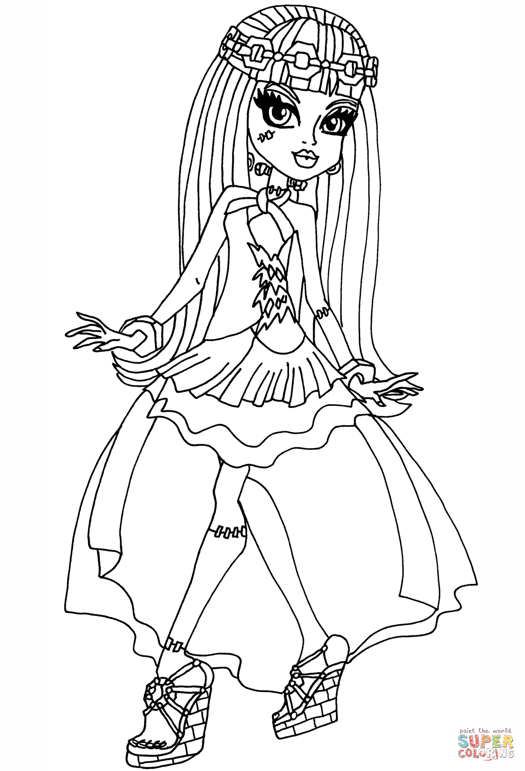monster high pictures to print and colour clawdeen wolf monster high coloring pages print colour monster pictures to and high