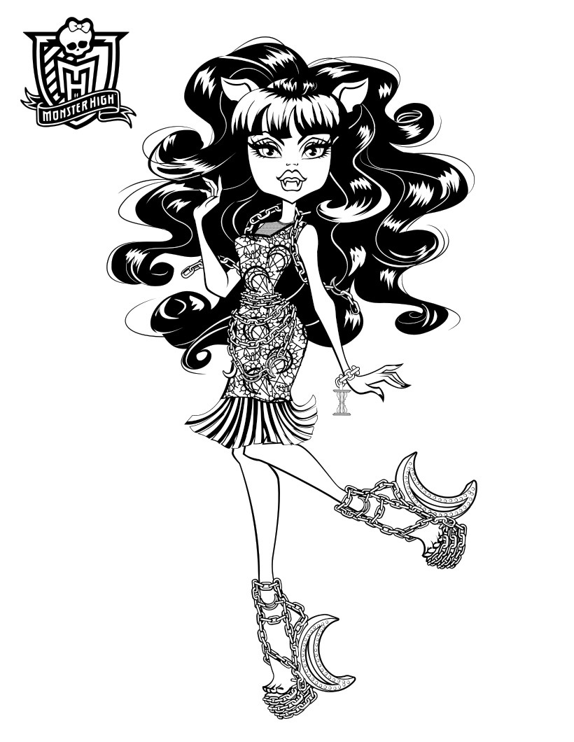 monster high pictures to print and colour monster high pictures to print and colour colour high to monster print and pictures