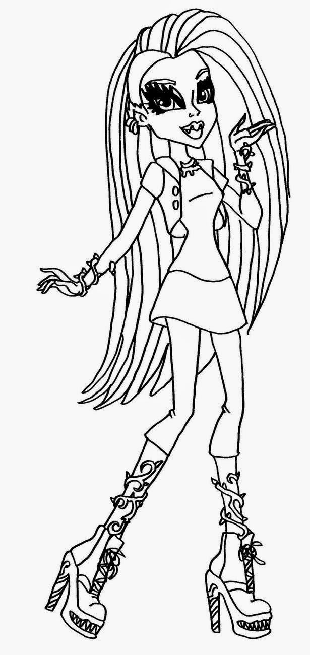 monster high pictures to print frankie 13 wishes coloring page free printable coloring to monster print high pictures
