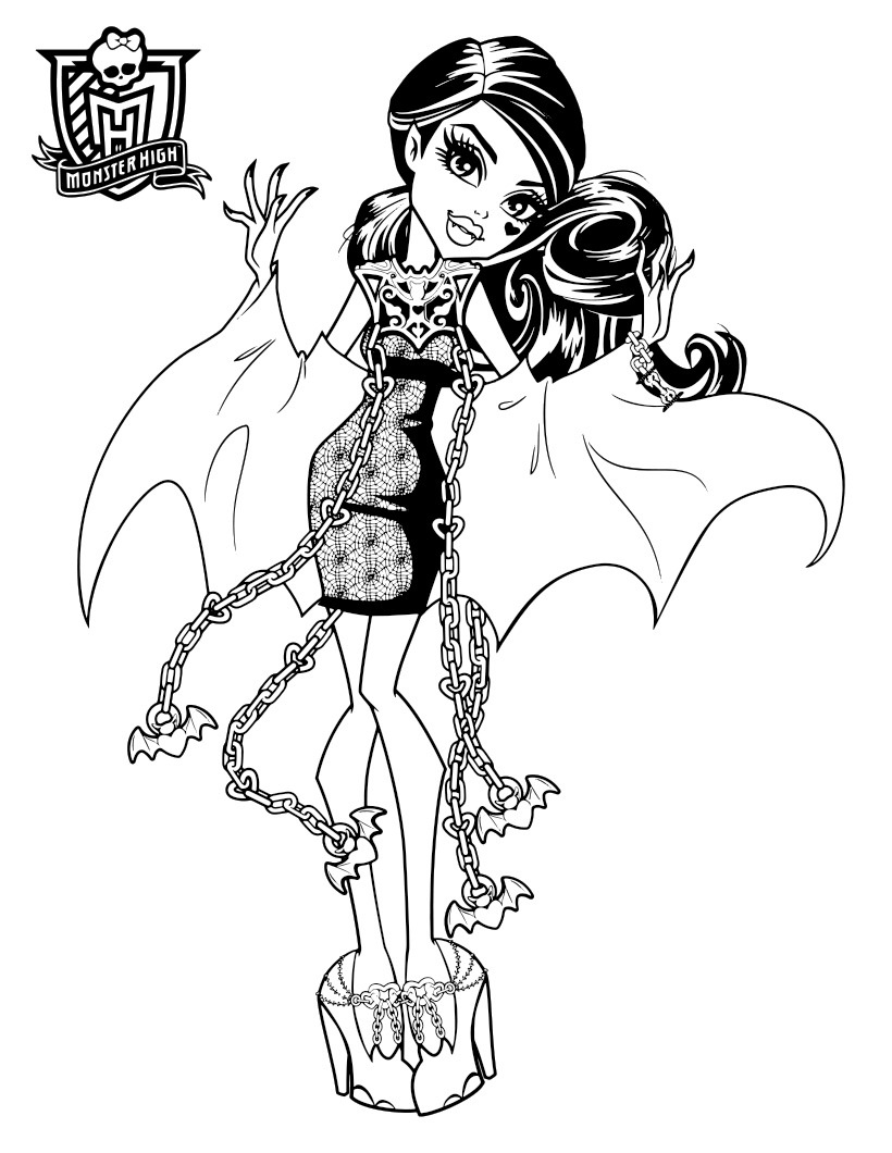 monster high pictures to print monster high haunted coloring pages to download and print high to monster pictures print