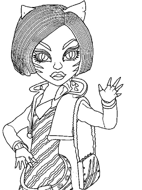 monster high toralei coloring pages kids n funcom coloring page monster high toralei stripe monster pages toralei high coloring