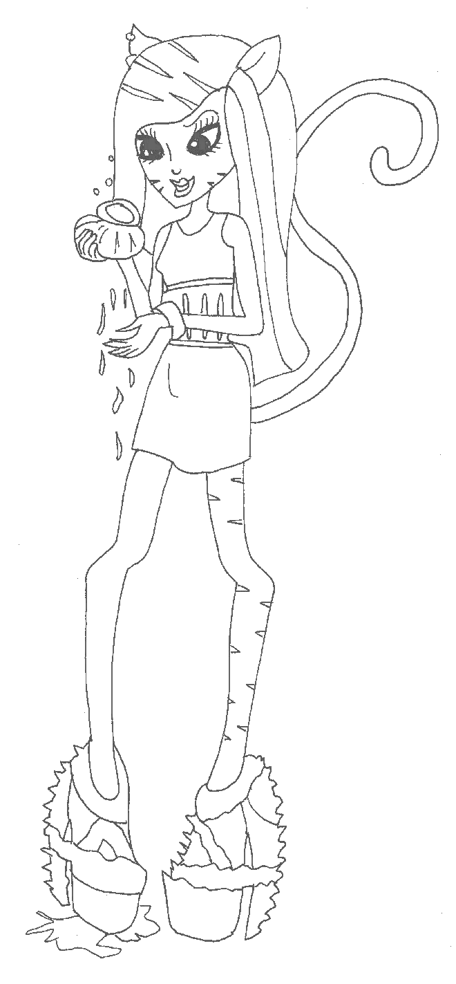 monster high toralei coloring pages monster high coloring pages coloring home toralei coloring monster pages high