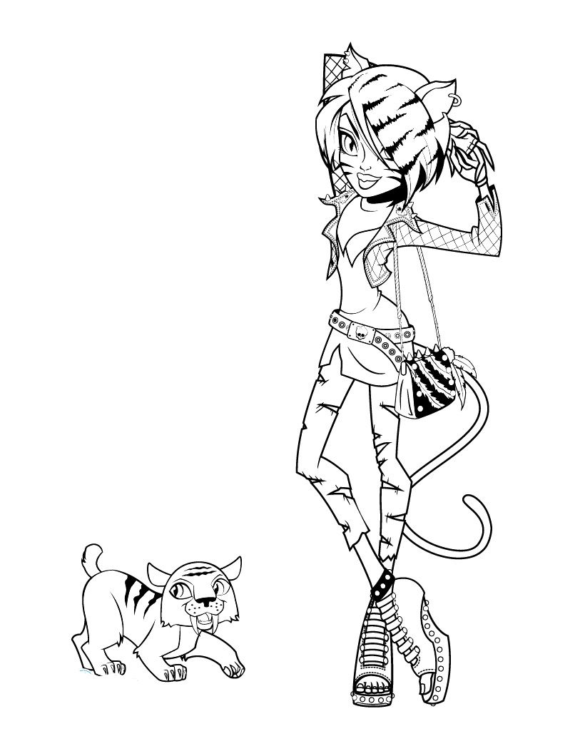 monster high toralei coloring pages style of monster toralei stripe coloring pages monster toralei pages coloring monster high