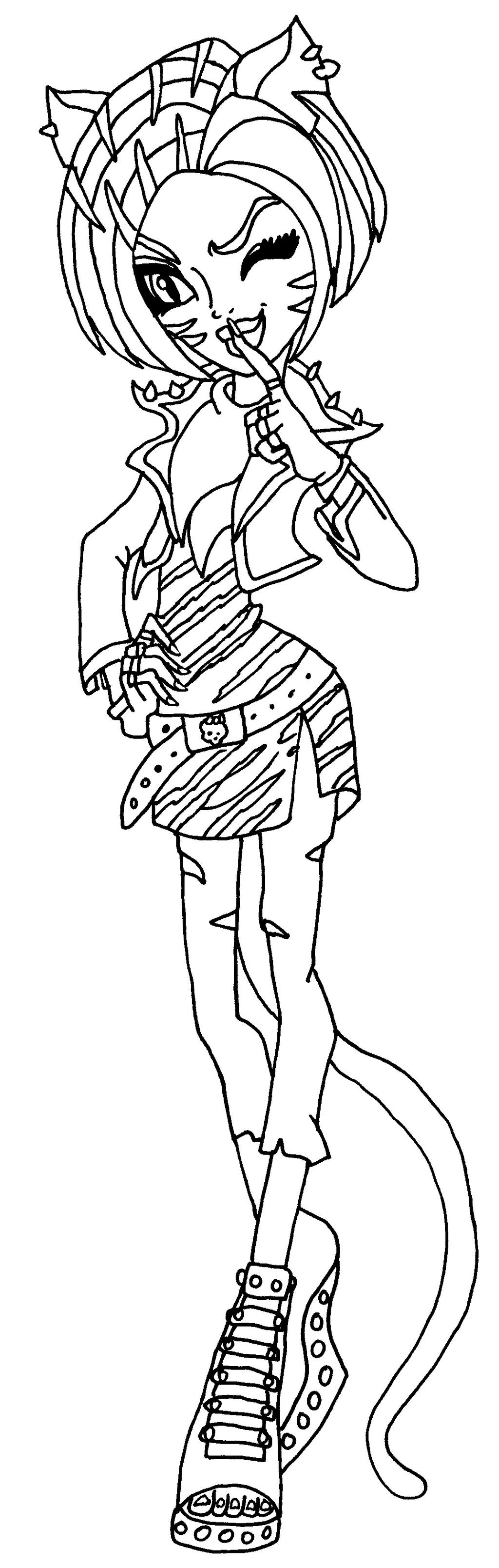 monster high toralei coloring pages toralei stripe from monster high coloring pages line monster pages toralei coloring high