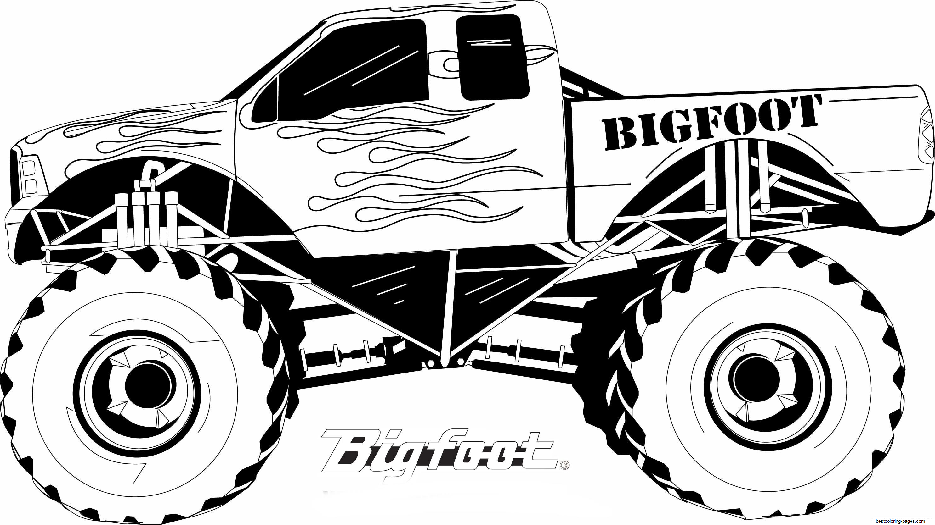 monster truck coloring book ausmalbilder für kinder malvorlagen und malbuch book truck coloring monster