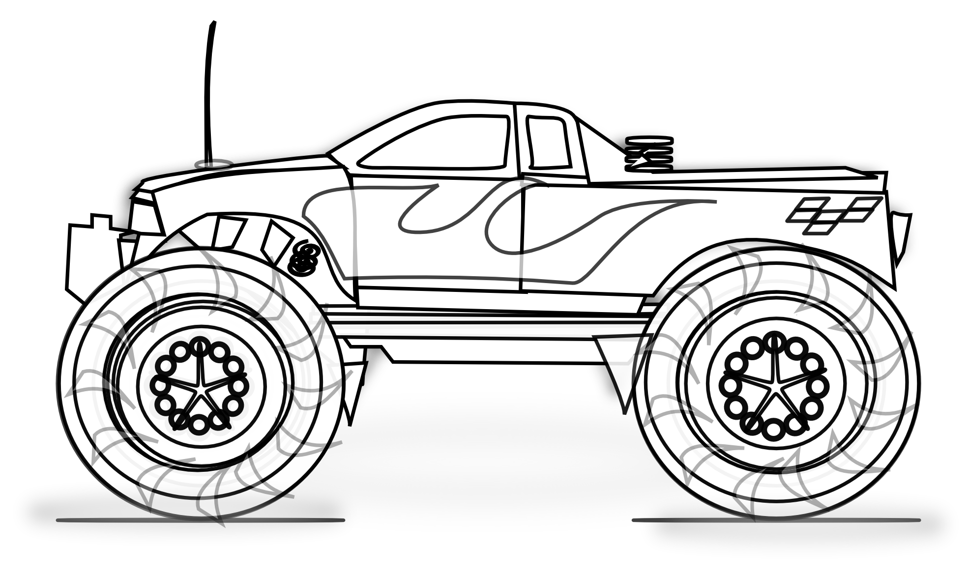 monster truck coloring book bigfoot monster truck jumps coloring page for kids coloring truck monster book