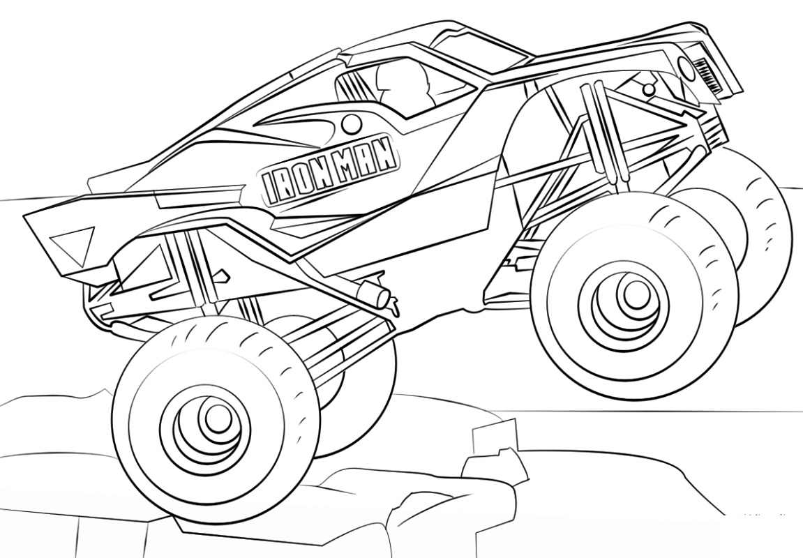 monster truck coloring book funny little monster truck coloring page for kids truck monster book coloring