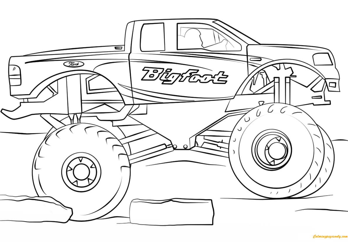 monster truck coloring book monster truck coloring pages to download and print for free coloring monster book truck