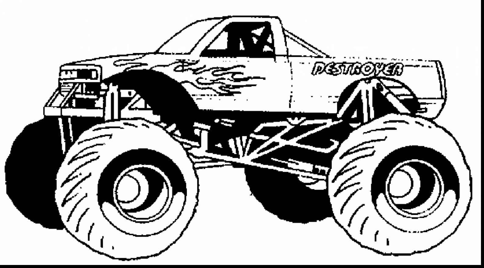 monster truck coloring pages easy easy bigfoot monster truck coloring pages printable pages easy monster coloring truck