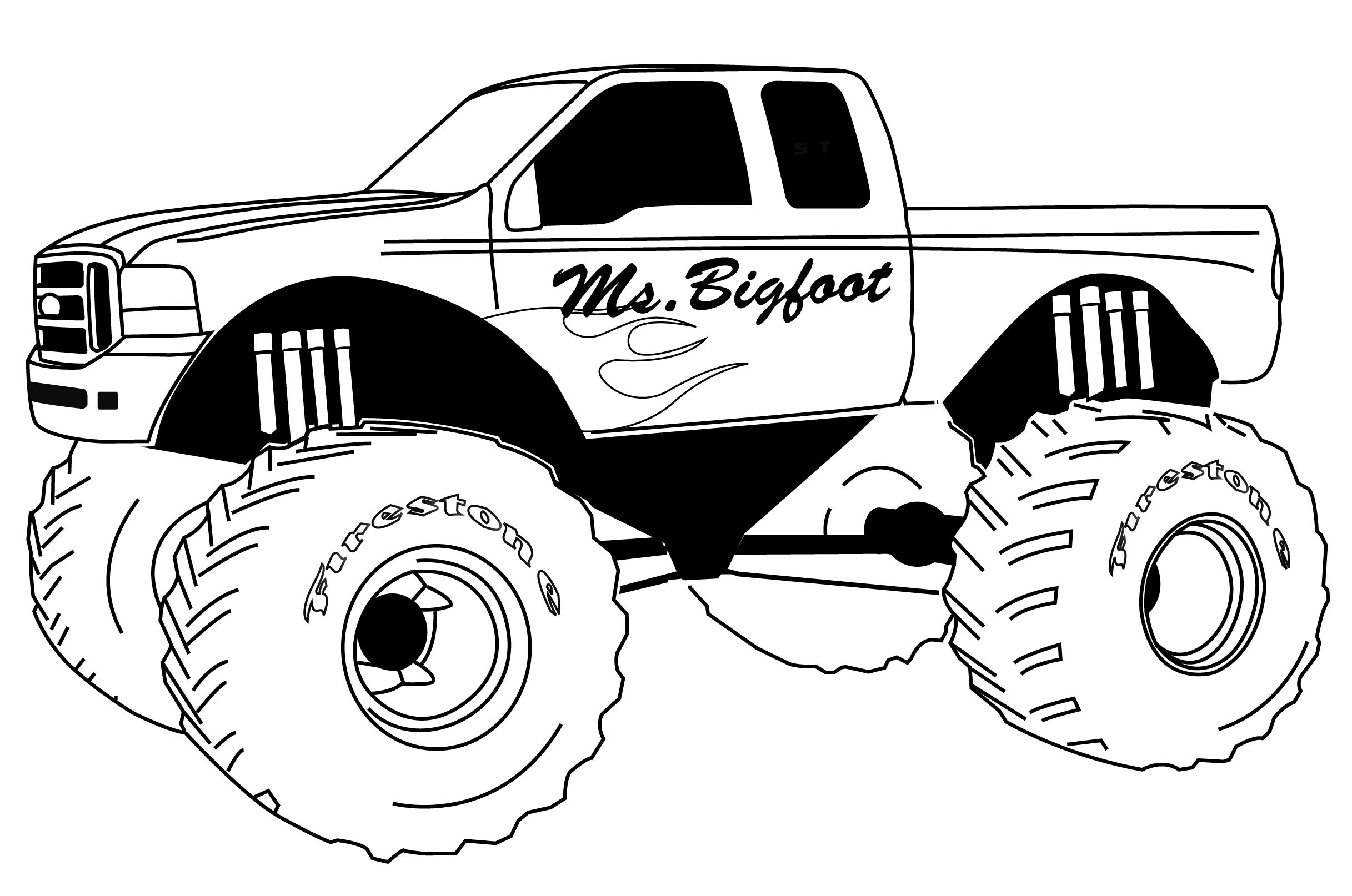 monster truck coloring pages easy easy coloring pages monster trucks free printable coloring monster easy pages coloring truck