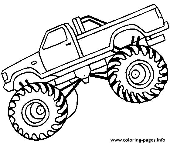 monster truck coloring pages easy easy monster truck big coloring pages printable monster truck coloring easy pages