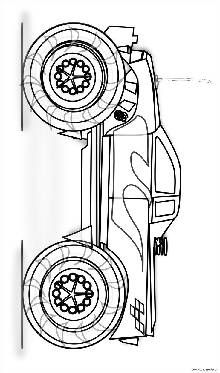 monster truck coloring pages easy easy monster truck coloring page coloring pages easy truck monster pages coloring