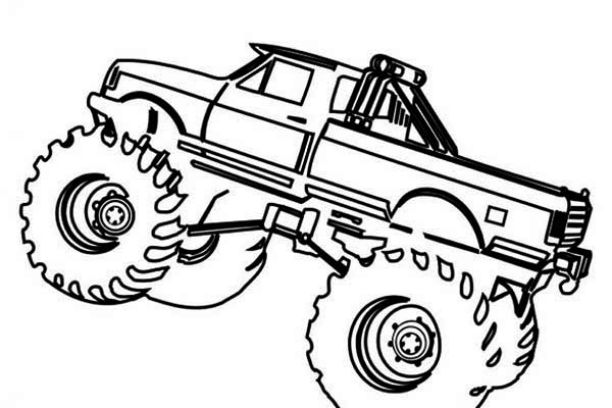 monster truck coloring pages easy easy monster truck coloring page free coloring pages online coloring easy monster truck pages