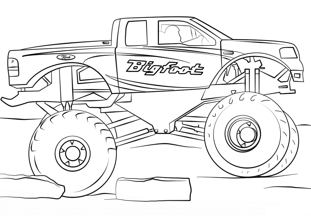monster truck coloring pages easy easy monster truck coloring page free coloring pages online truck monster pages coloring easy