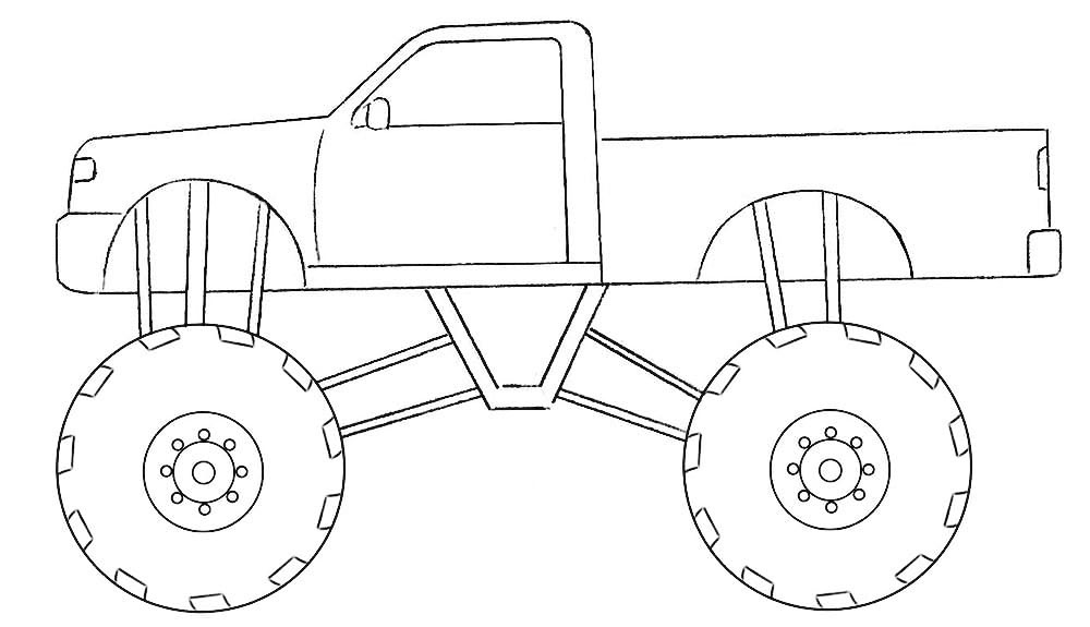 monster truck coloring pages easy flamebigfootcolorjpg 29701670 monster truck easy truck pages monster coloring