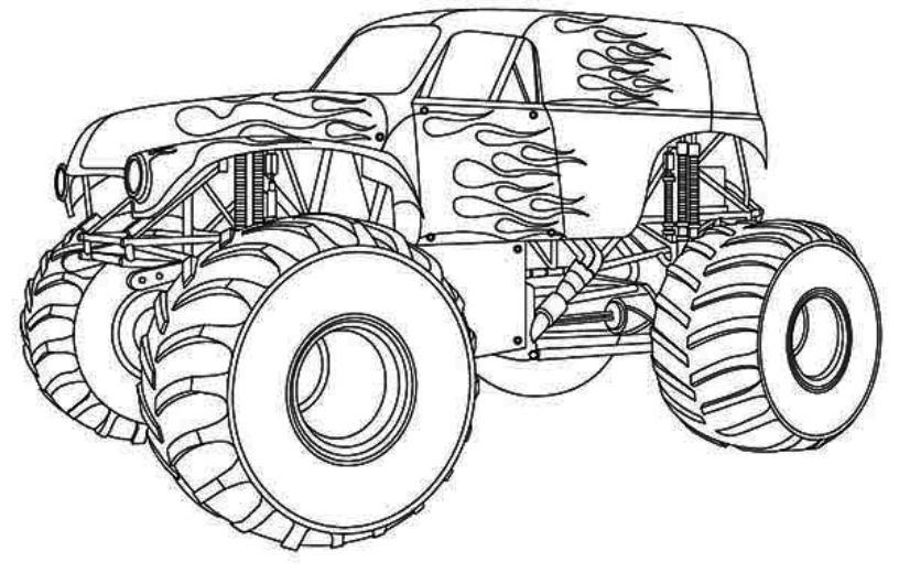 monster truck coloring pages easy free printable monster truck coloring pages for kids truck pages monster easy coloring