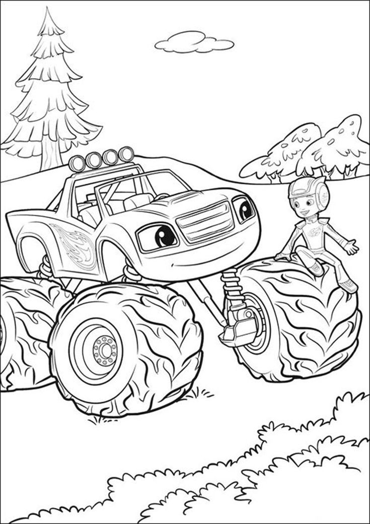 monster truck coloring pages easy monster truck drawing at paintingvalleycom explore truck coloring pages monster easy