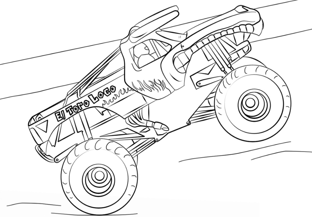 monster truck pictures to color 10 wonderful monster truck coloring pages for toddlers to truck color monster pictures