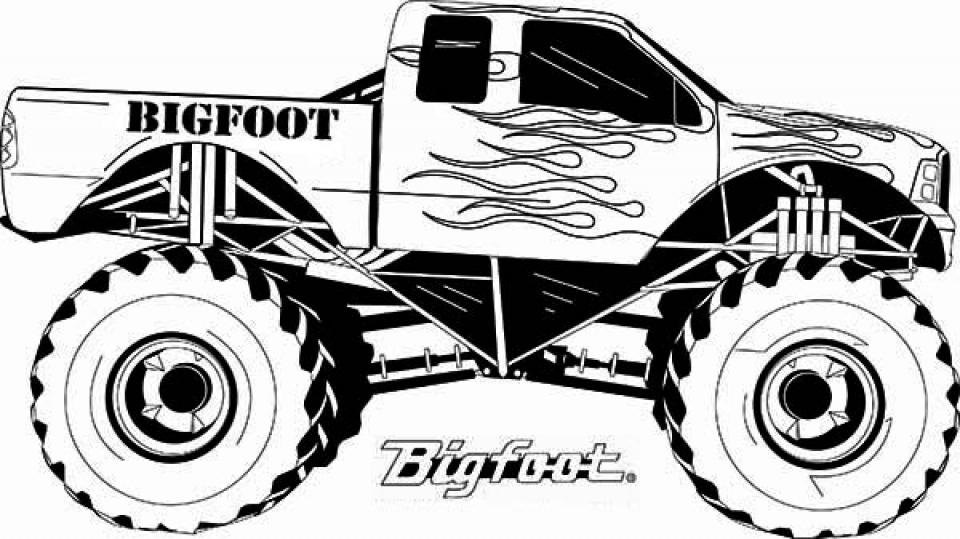 monster truck pictures to color drawing monster truck coloring pages with kids color pictures truck monster to