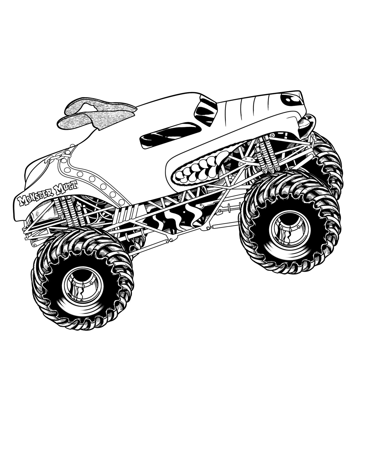 monster truck pictures to color drawing monster truck coloring pages with kids truck to monster pictures color