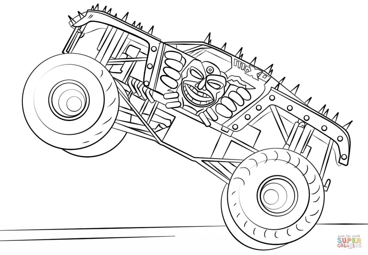 monster truck pictures to color free printable monster truck coloring pages for kids monster truck pictures to color