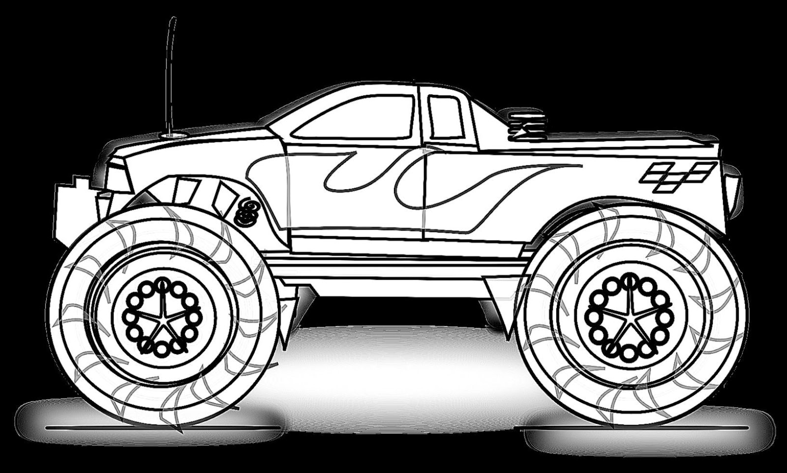 monster truck pictures to color get this jam zombie monster truck coloring page 09271 pictures to color monster truck